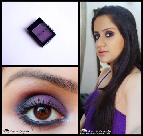 Revlon Colorstay Shadowlinks Plum Review, Swatch & Eyemakeup