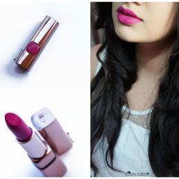 L'Oreal Color Riche Moist Matte Lipstick Glamor Fuchsia Review & Swatches