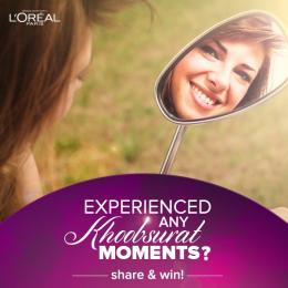 Share a Khoobsurat Moment & Win an Amazing L'Oreal Paris Hamper!