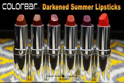 Colorbar Darkened Summer Lipstick Swatches & Price