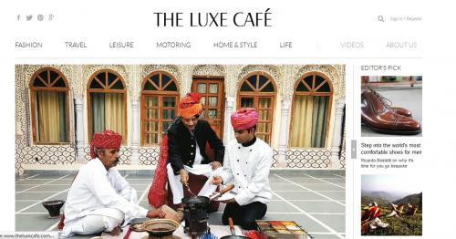 The Luxe Cafe- Website Review