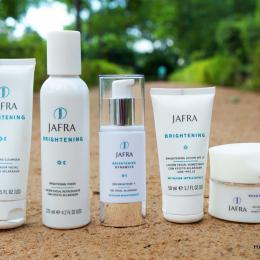JAFRA Brightening Range- Cleanser, Toner, Skin Brightener & Night Cream Review