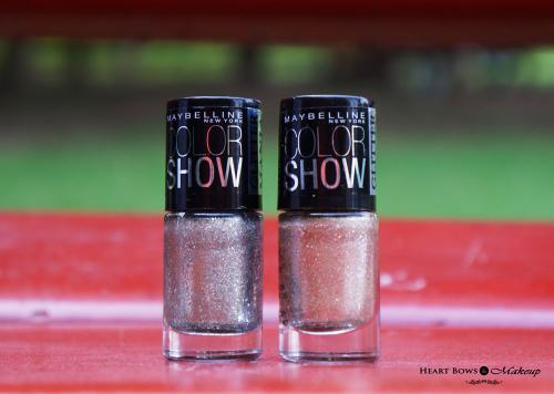 Maybelline Glitter Mania Nail Polish Dazzling Diva & All That Glitters Review & Swatches