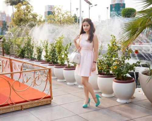 OOTD: Blush Pink With Mint