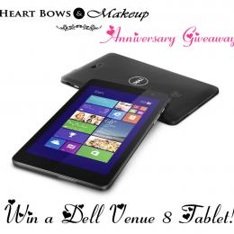 Heart Bows & Makeup First Anniversary Giveaway- Win a Dell Tablet!