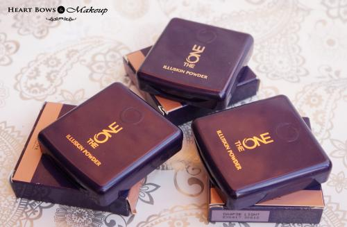 Oriflame The ONE IlluSkin Powder Review & Swatches- Light, Medium, Dark
