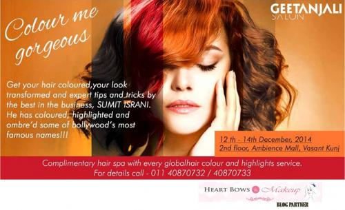 Win a Chance to Color Your Hair Gorgeous With Geetanjali Salon
