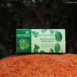 Biotique Bio Basil & Parsley Revitalizing Soap Review, Price & Buy India