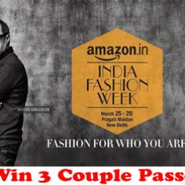 Amazon India Fashion Week Passes: Win 3 Couples Passes!