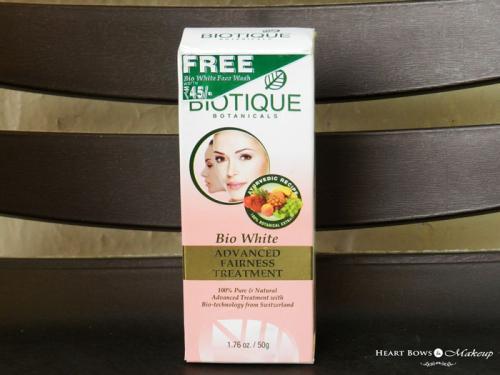 Biotique Bio White Advanced Fairness Treatment Review & Price Details