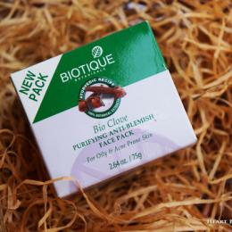 Biotique Bio Clove Purifying Anti Blemish Face Pack Review & Price