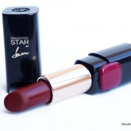 L'Oreal Paris Collection Star Red Lipstick Pure Garnet Review & Swatches