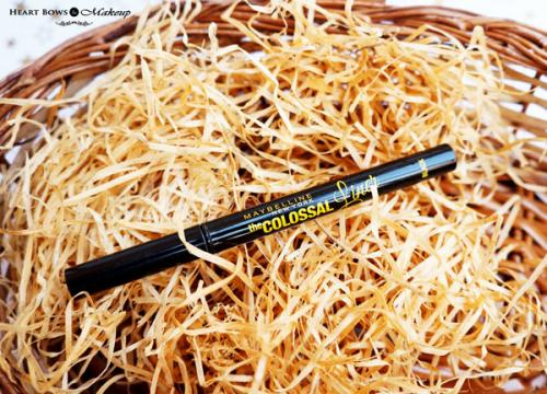 Maybelline The Colossal Liner Review, Swatches & Price- The Best Liquid Eyeliner in India!