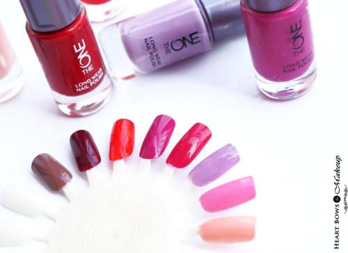Oriflame The ONE Long Wear Nail Polishes Review, Swatches & Shades
