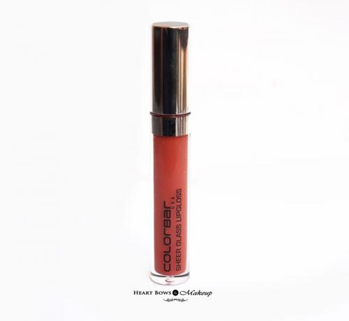 Colorbar Sheer Glass Lipgloss Brown Sheen Review, Swatches & Price