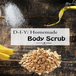 DIY: Easy Homemade Body Scrub Recipe!