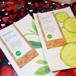 Innisfree It's Real Green Tea & Cucumber Mask Review, Price & Buy India