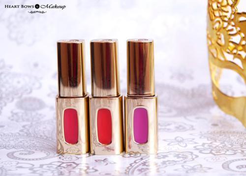L'Oreal Paris Extraordinaire Liquid Lipsticks Review, Swatches & Price India