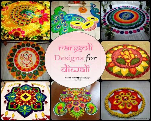 Top Rangoli Designs For Diwali 2015