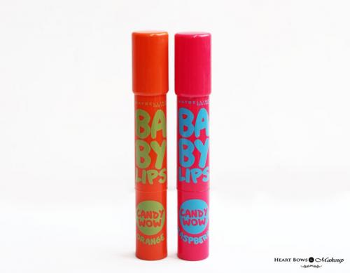 Maybelline Baby Lips Candy Wow Raspberry & Orange Review, Swatches & Price India