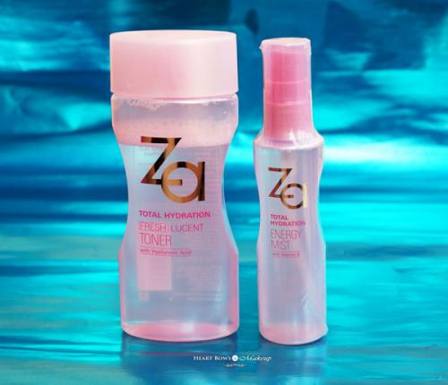 ZA Total Hydration Lucent Toner & Energy Mist Review, Price & Buy Online India