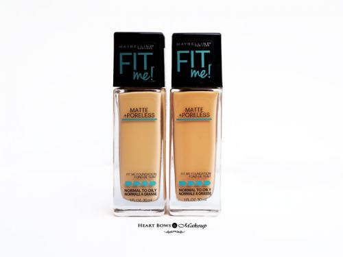 Maybelline Fit Me Matte + Poreless Foundation 128 Warm Nude & 230 Natural Buff Review, Swatches, Price & Buy India