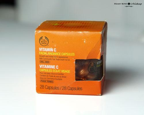 The Body Shop Vitamin C Facial Radiance Capsules Review, Price & Buy Online India