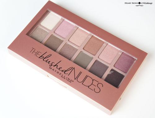 Maybelline The Blushed Nudes Palette Review, Swatches, Price & Buy Online India