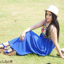 OOTD: A Summery Aztec Maxi Dress & Blue Wedges!