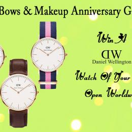 HBM First Anniversary Giveaway- Win a Daniel Wellington Watch. Open Internationally!