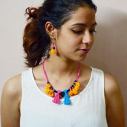 DIY: How to Make Colorful Pom Pom Jewellery at Home-Step by Step Tutorial!