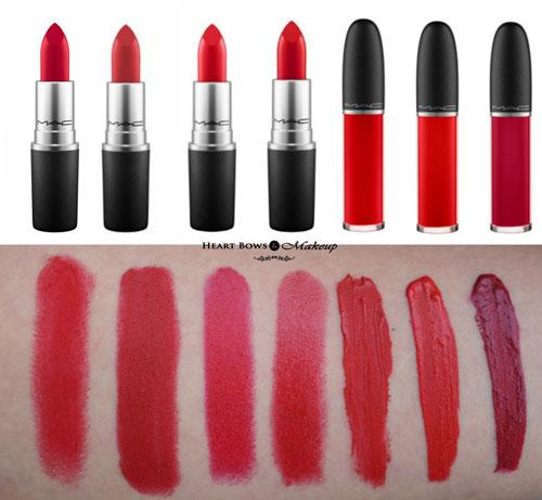 Best MAC Red Lipsticks For All Skin Tones: Swatches, Reviews & Price