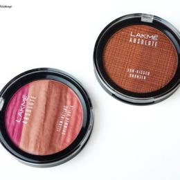 Lakme Absolute Illuminating Shimmer Brick & Sun Kissed Bronzer Review, Swatches & Price