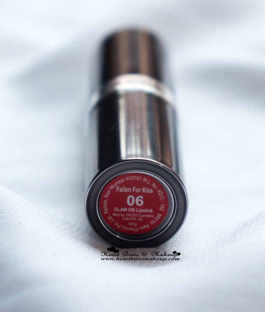 Faces Glam On Lipstick Review