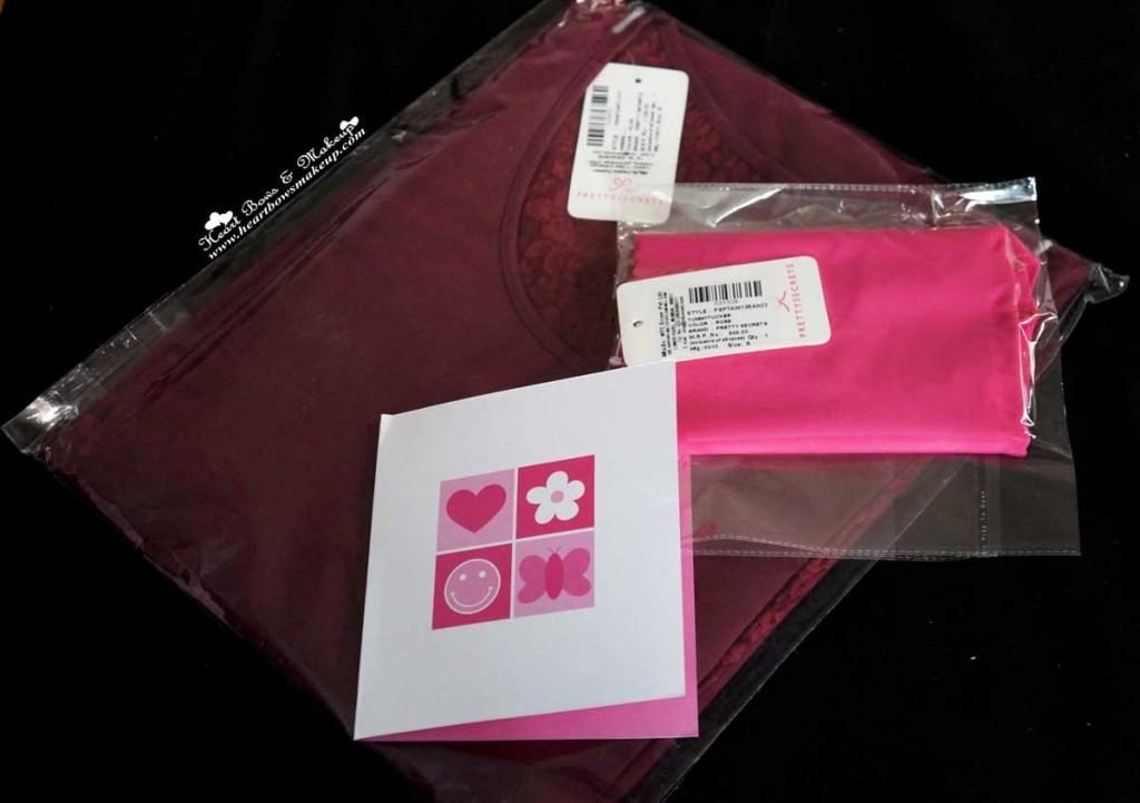 prettysecrets plum dress hot pink tummy tucker
