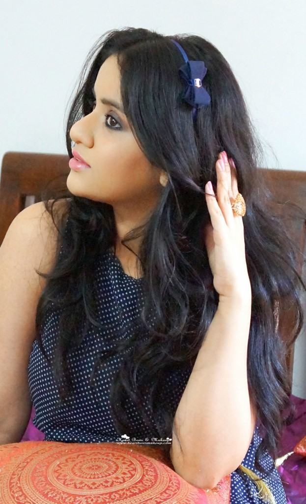 valentine's day makeup tutorial indian fashion looks.bow hair band