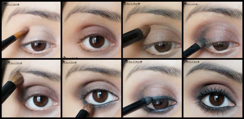 brown smokey eyemakeup tutorial valentine's day eyemakeup tutorial