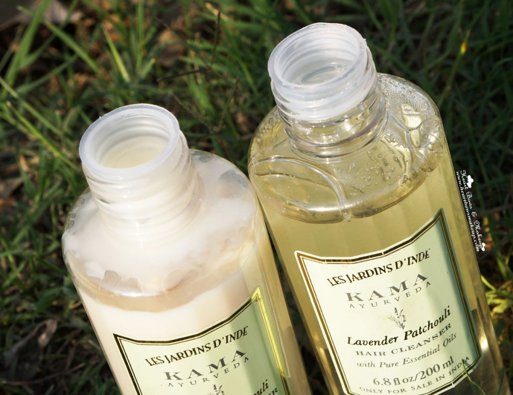 Best Sulphate & Silicone Free Shampoo & Conditioner in India: Kama Ayurveda Lavender Patchouli Cleanser  & Conditioner