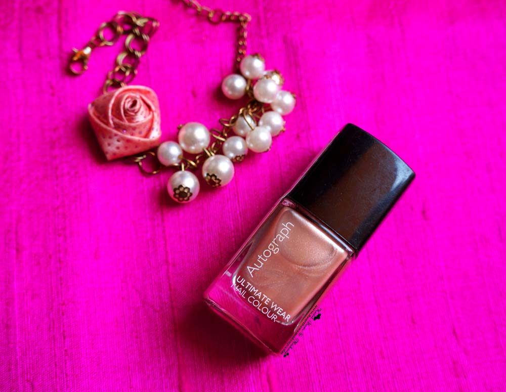 Marks & Spencer Autograph nail Polish Champagne Review Swatches