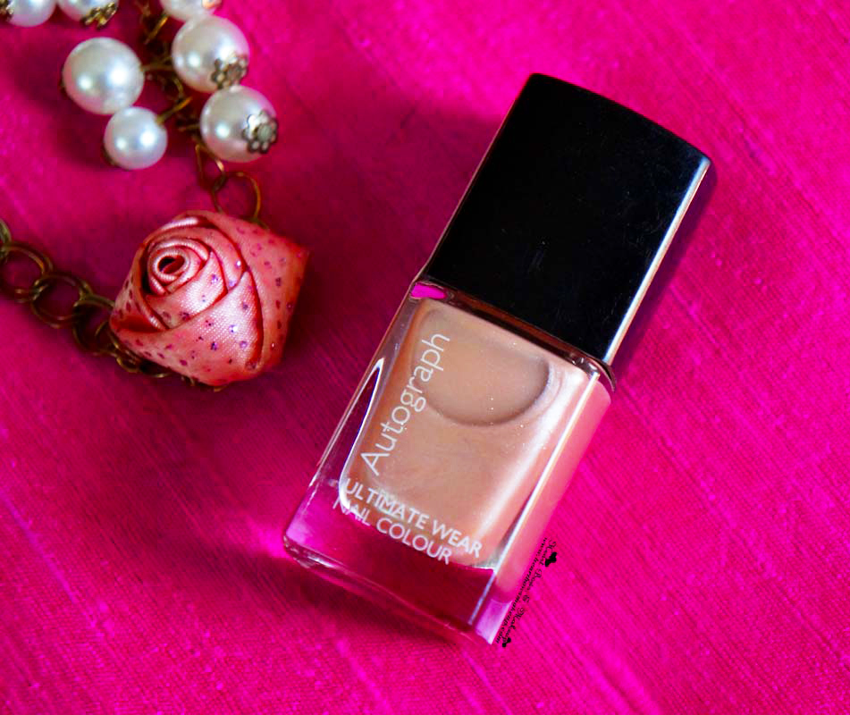 M&S Autograph nail Polish Champagne Review Swatches Pictures