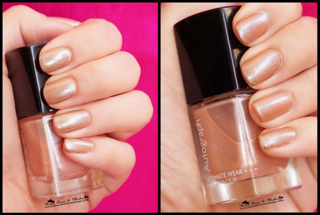 Marks & Spencer Autograph Champagne Nail Polish Swatches Review