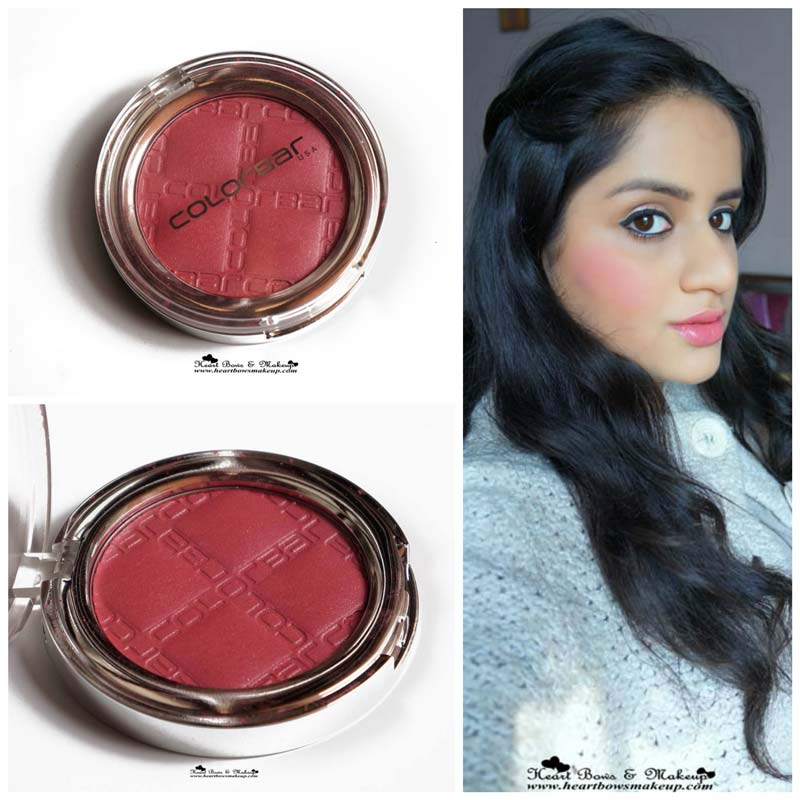 Colorbar Cheek Illusion Everything's Rosy Blush Review, Swatch & Price India