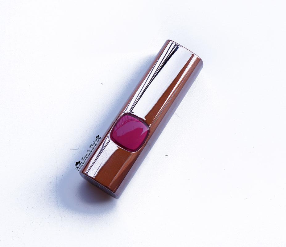 L'Oreal Color Riche Moist Matte Lipstick Glamor Fuchsia Review India