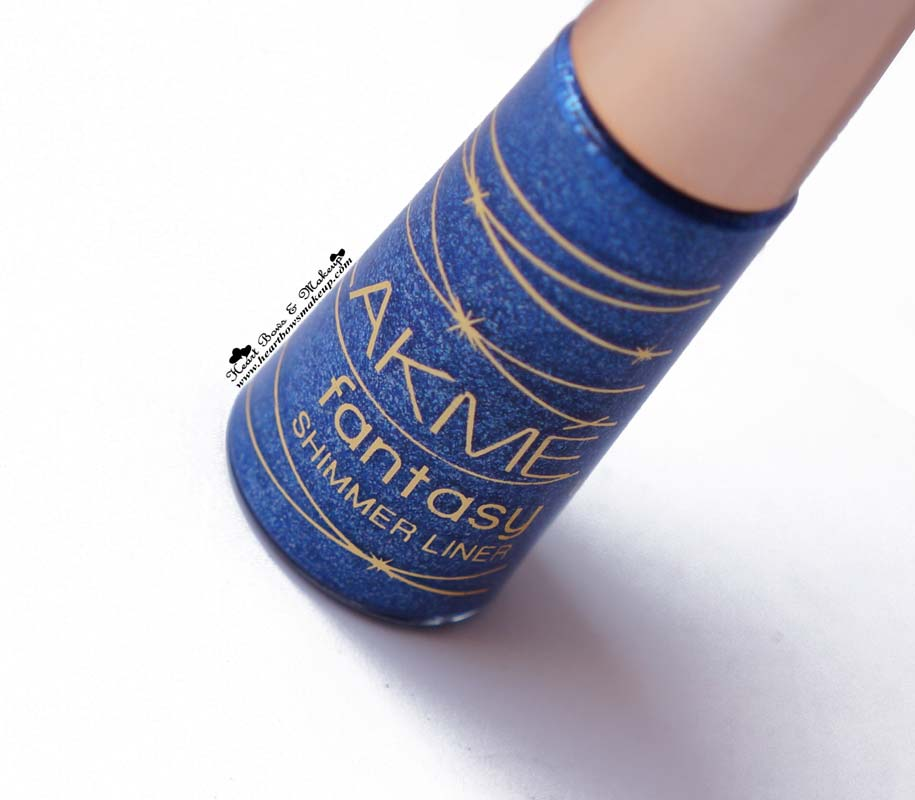 Lakme Shimmer Eyeliner Glimmer Blue Review & Swatches