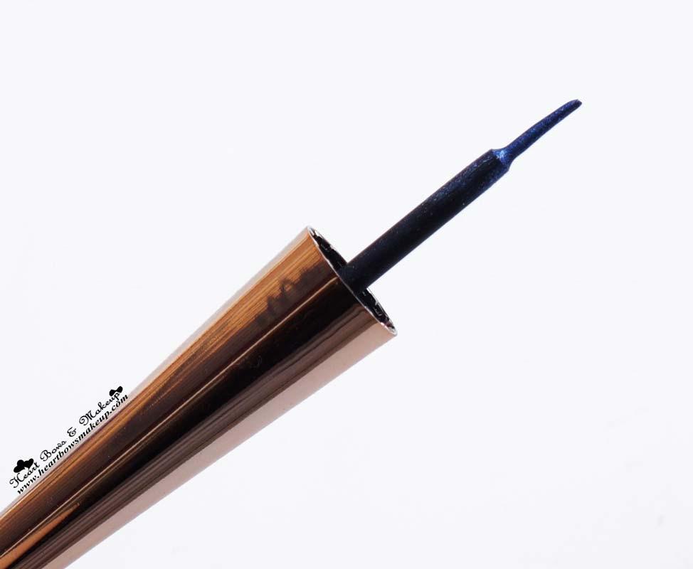 Lakme Fantasy Shimmer Eyeliner Glimmer Blue Review & EOTD