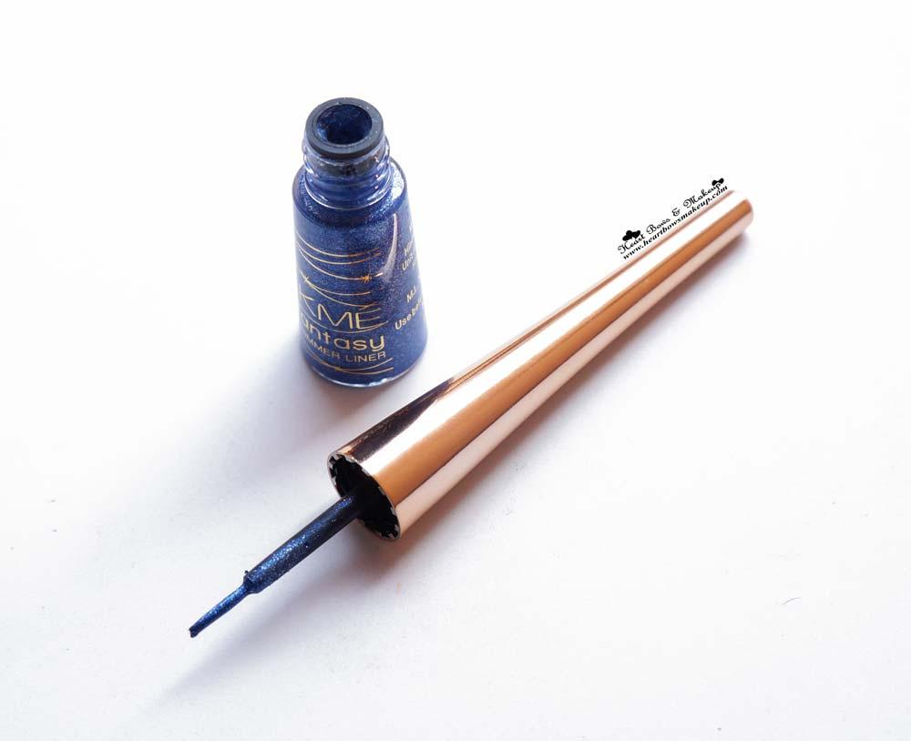 Lakme Shimmer Eyeliner Glimmer Blue Review