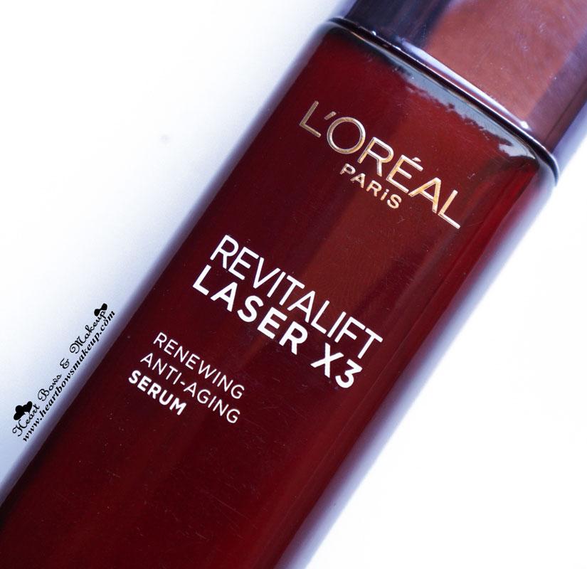 Loreal Laser 3X Renewing Anti Aging Serum Review