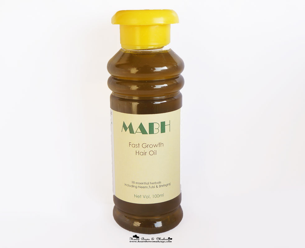 MABH Fast growth Hair Oil Review Price India- The best Oil for Hair Fall & Hair Growth