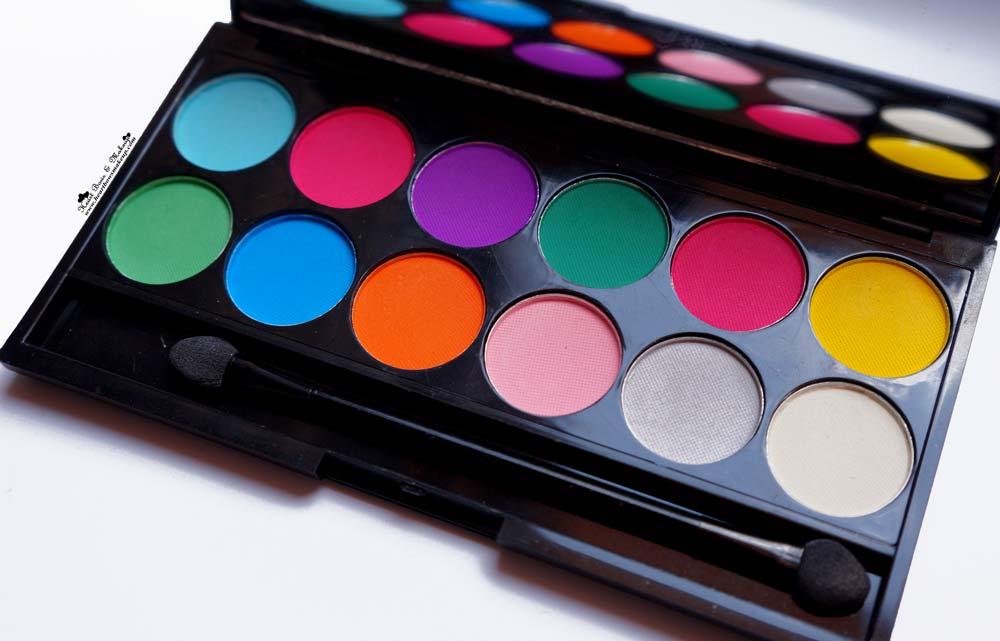Sleek Ultra Mattes V1 Brights Eyeshadow Palette Swatches