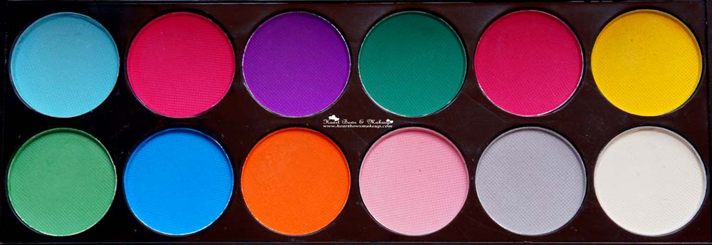 Sleek Ultra Mattes Brights V1 Brights Palette Review Swatches